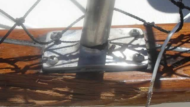 Damage teak yacht rail repair